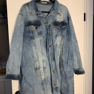 Bottlette oversized denim jacket size 2x. NWOT